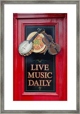Live Music Daily Framed Print by Bill Cannon
