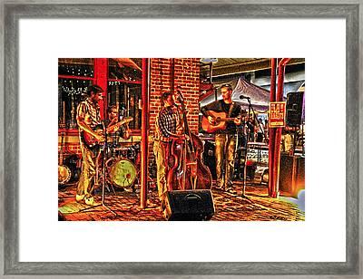 Live Music Framed Print by Frank Savarese