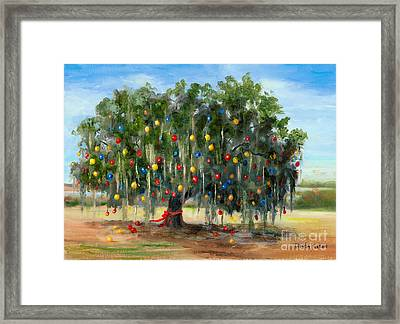 Live Oak Christmas Framed Print