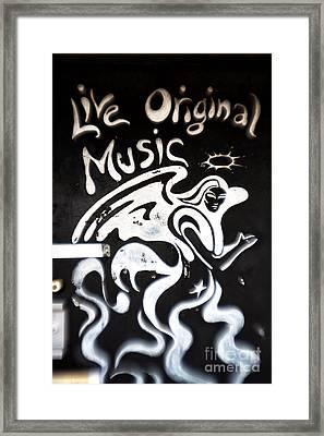 Live Original Music Framed Print by John Rizzuto