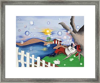 Live Out The Bubble Framed Print by Patricia Sabree