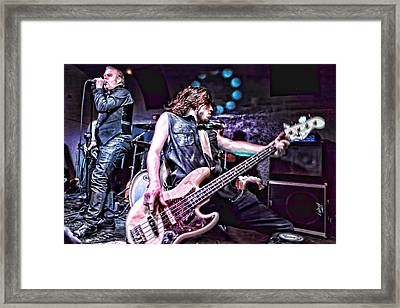 Live The Music Framed Print by Ronnie Reffin