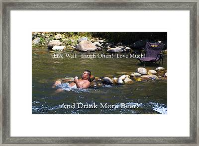 Live Well Laugh Often Framed Print by Floyd Snyder