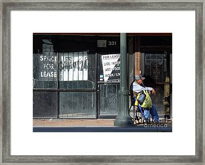 Live Work Wait Framed Print by Joe Jake Pratt