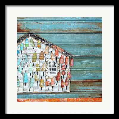 Structure Mixed Media Framed Prints
