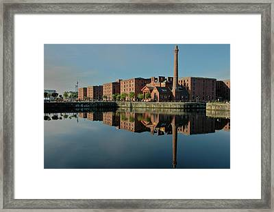 Framed Print featuring the photograph Liverpool Canning Docks by Jonah  Anderson