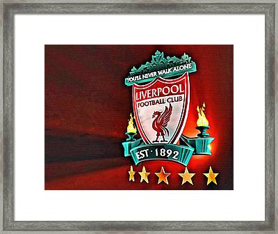 Liverpool Football Club Poster Framed Print by Florian Rodarte