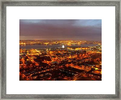 Liverpool Wheel And River Mersey Framed Print
