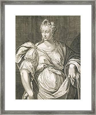 Livia Drusilla Wife Of Octavian Framed Print by Aegidius Sadeler or Saedeler