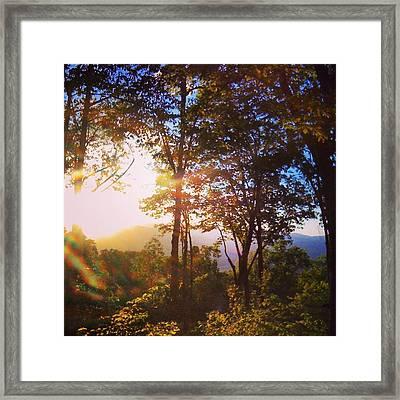 Livin A Mountain Morning Framed Print by John Adams
