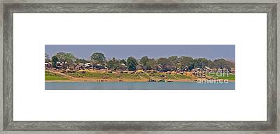 Living Along The Irrawaddy River Framed Print by Beth Wolff