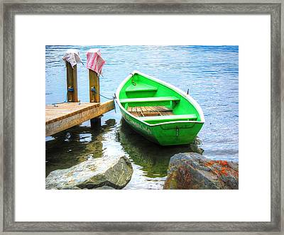 Living By The Lake Framed Print