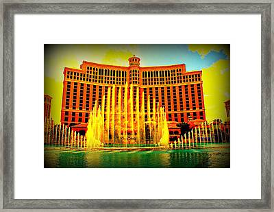 Living Color Belagio Framed Print by Michael Davis