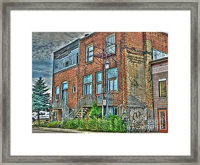 Living Downtown Up North Framed Print by MJ Olsen