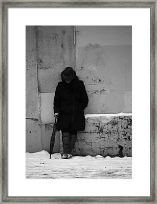 Living Hard Softly  Framed Print by Empty Wall