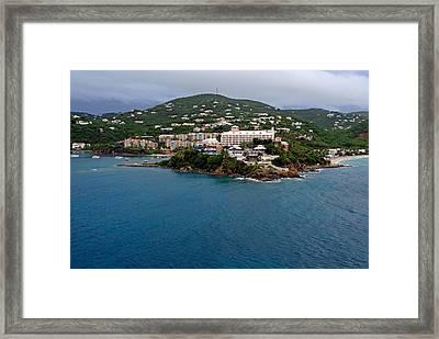 Living High In Saint Thomas Framed Print by Willie Harper