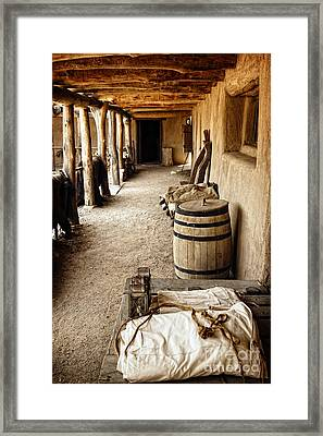 Framed Print featuring the photograph Living History In Bents Old Fort by Lincoln Rogers