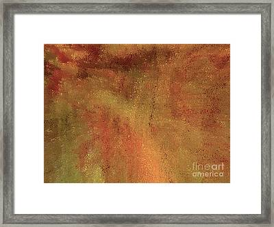 Living In A Copper World Framed Print by Ann Johndro-Collins