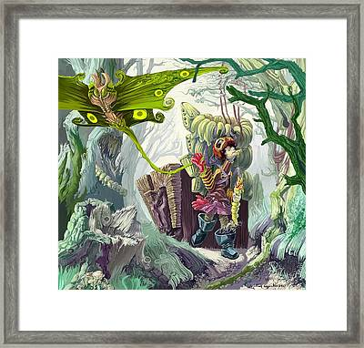 Living In A Swamp Framed Print by Augustinas Raginskis