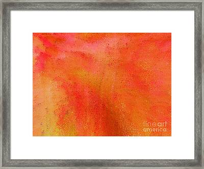 Living In A Tangerine World Framed Print