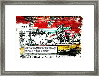 Living In America Framed Print