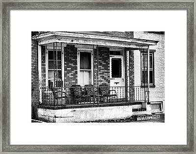 Living In Lambertville Framed Print by John Rizzuto