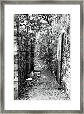 Living In The Alley Framed Print by John Rizzuto