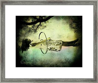 Living In The Fear Framed Print