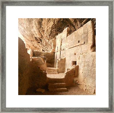 Framed Print featuring the photograph Living In The Rocks by Kerri Mortenson