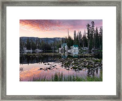 Living In The Woods Framed Print by Leland D Howard
