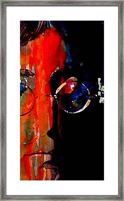 Living Is Easy With Eyes Closed Framed Print by Paul Lovering