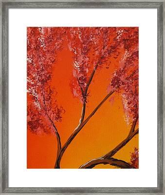 Living Loving Tree Top Left Framed Print