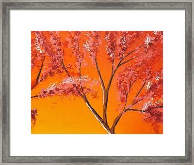 Living Loving Tree Top Right Framed Print