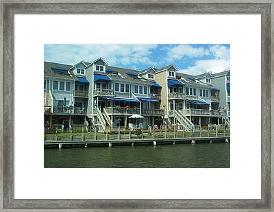 Framed Print featuring the photograph Living On The Dock Of The Bay by Emmy Marie Vickers