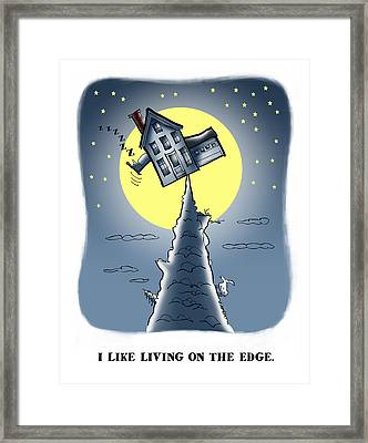 Living On The Edge Framed Print by Mark Armstrong