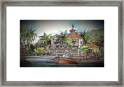 Framed Print featuring the drawing Living Port by Andrew Drozdowicz