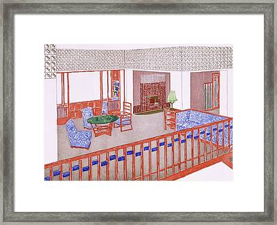 Living Room, Early 1900s Framed Print by Leopold Bauer
