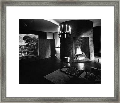 Living Room In House Designed By Philip C Framed Print by Andre Kertesz