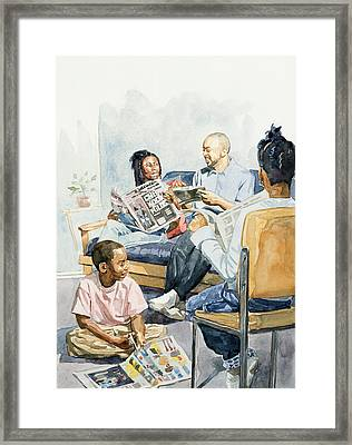 Living Room Serenades Framed Print