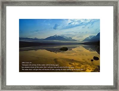 Living Water Framed Print by Jeff Swan