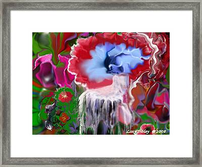 Framed Print featuring the digital art Living Water by Loxi Sibley