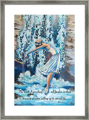 Living Water Scripture Framed Print by Tamer and Cindy Elsharouni