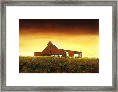 Livingston Co. Red Framed Print