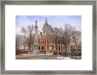 Livingston County Courthouse 06 Pontiac Il Framed Print by Thomas Woolworth