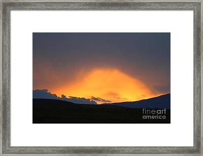 Framed Print featuring the photograph Livingstone Range Sunset by Ann E Robson