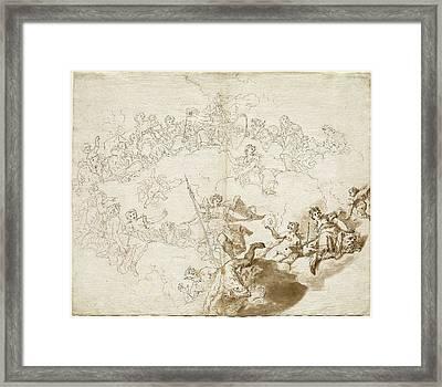 Livio Retti Italian, 1692-93 - 1751, The Triumph Of Virtue Framed Print