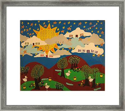 Framed Print featuring the painting Liv'n High by Erika Chamberlin