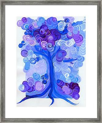 Liz Dixon's Tree Blue Framed Print by First Star Art