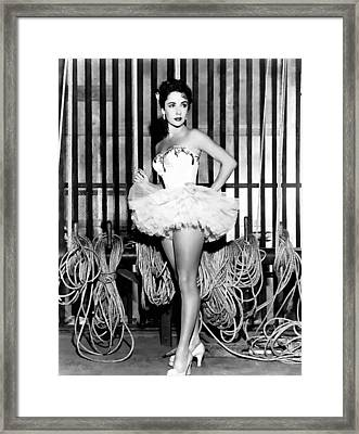 Liz Taylor Elizabeth Taylor 2 Framed Print by Studio Photograph