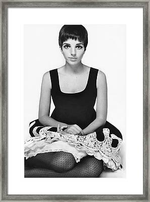 Liza Minnelli Wearing A Robert Leader Dress Framed Print by Alexis Waldeck